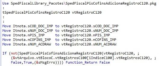 SpedFiscalPisCofinsAdicionaRegistroC120