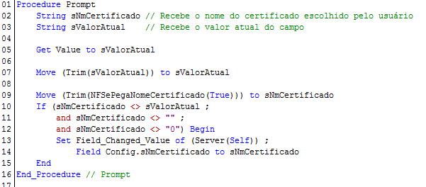 NFSePegaNomeCertificado - Exemplo