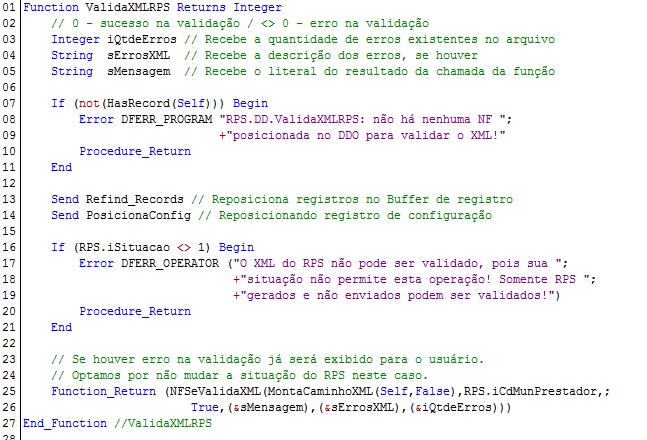 NFSeValidaXML - Exemplo