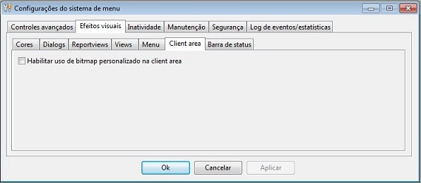 Efeitos visuais > Client area