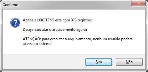 Alerta de Log usuário admin