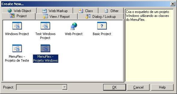 Create New Window Project